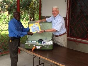 Andy with Bernard Kabibu administrator of IMCK